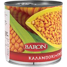 Κονσέρβα BARON καλαμπόκι κόκκοι σε φυσικό χυμό (340g)