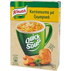 Σούπα σε σκόνη KNORR Quick Snack κοτόσουπα με ζυμαρικά (27g)