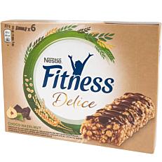 Μπάρα δημητριακών FITNESS Delice σοκολάτα φουντούκι (6x22,5g)
