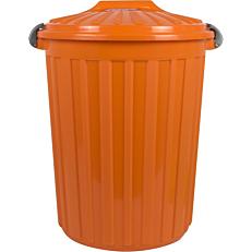 Κάδος απορριμμάτων με χερούλι πορτοκαλί 60lt