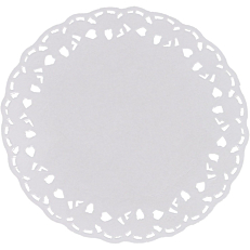 Δαντέλα στρογγυλή λευκή Φ10cm (250τεμ.)