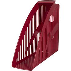 Θήκη περιοδικών HERLITZ Α4 πλαστική, κόκκινη