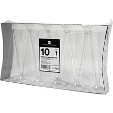 Ποτήρια πλαστικά PS διαφανή 13cl (10τεμ.)