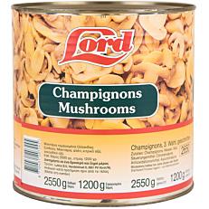 Κονσέρβα LORD μανιτάρια κομμένα (2,55kg)