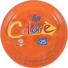 Πιάτα πλαστικά σε πορτοκαλί χρώμα 22oz (25τεμ.)