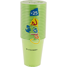 Ποτήρια πλαστικά 200ml σε πράσινο χρώμα (25τεμ.)
