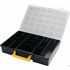 Βαλιτσάκι organizer με διαφανές καπάκι και χωρίσματα 360x252x64