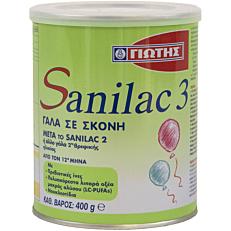 Γάλα σε σκόνη ΓΙΩΤΗΣ Sanilac 3 για παιδιά 12+ μηνών