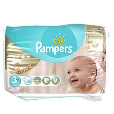 Πάνες PAMPERS Premium Care No.3, 5-9kg (40τεμ.)
