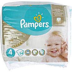 Πάνες PAMPERS Premium Care No.4, 8-14kg (34τεμ.)
