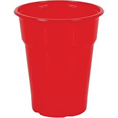 Ποτήρια πλαστικά PP κόκκινα 300ml (50τεμ.)