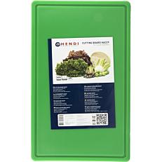 Πλάκα κοπής 2 όψεων η μία με αυλάκι GN 1/2 πράσινη 26,5x32,4x1,2cm