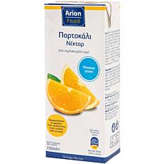 Χυμός ARION FOOD νέκταρ πορτοκάλι (250ml)