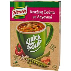 Σούπα σε σκόνη KNORR Quick Snack κινέζικη σούπα με λαχανικά (36g)
