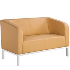 Καναπές 2θέσιος Pu μπεζ 124x72x78cm