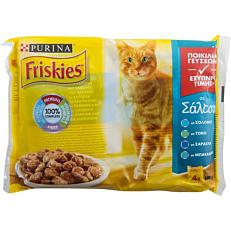 Τροφή FRISKIES γάτας με θαλασσινά σε σάλτσα (4x100g)