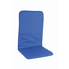 Μαξιλάρι πολυθρόνας με ψηλή πλάτη μπλε (2τεμ.)