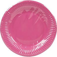 Πιάτα χάρτινα μονόχρωμα φούξια 20cm (10τεμ.)