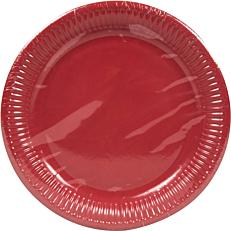 Πιάτα χάρτινα μονόχρωμα κόκκινα 23cm (10τεμ.)