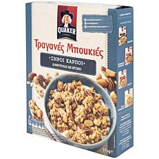 Δημητριακά QUAKER τραγανές μπουκιές βρώμης με ξηρούς καρπούς (375g)