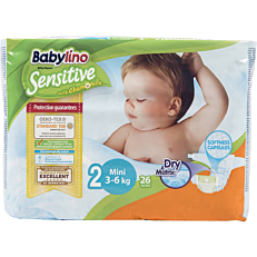 Πάνες BABYLINO Sensitive No.2, 3-6kg (26τεμ.)