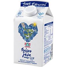 Γάλα ΔΕΛΤΑ φρέσκο πλήρες 3,5% λιπαρά (0,5lt)