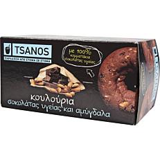 Κουλούρια TSANOS με σοκολάτα υγείας και αμύγδαλο (100g)