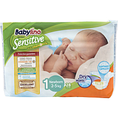 Πάνες BABYLINO Sensitive No.1, 2-5kg (28τεμ.)