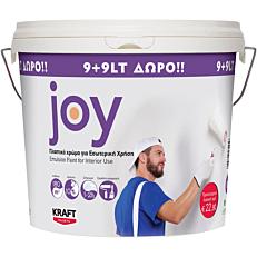 Χρώμα KRAFT Joy πλαστικό (9+9lt ΔΩΡΟ)
