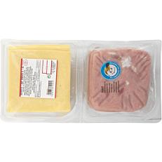 Ζαμπόν και τυρί gouda ΤΥΠΟΠΟΙΗΤΙΚΗ χοιρινή ωμοπλάτη σε φέτες 20+20 (1kg)