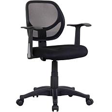 Καρέκλα STAMPA γραφείου mesh με μπράτσα μαύρη