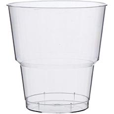 Ποτήρια πλαστικά PS διαφανή 220ml (25τεμ.)