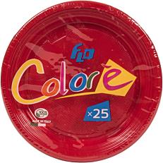 Πιάτα πλαστικά σε κόκκινο χρώμα 17oz (25τεμ.)