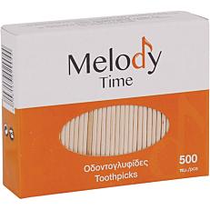 Οδοντογλυφίδες MELODY TIME με δυο μύτες σε κουτί (500τεμ.)