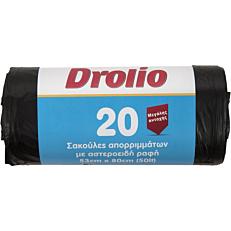 Σακούλες απορριμμάτων DROLIO μεγάλες 53x80cm (20τεμ.)