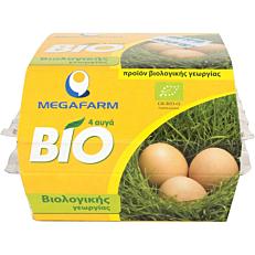 Αυγά ΜΕΓΑΦΑΡΜ φρέσκα βιολογικά (bio) (4x53-63g)