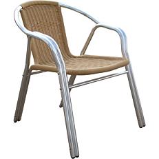 Καρέκλα RESORT LINE αλουμινίου rattan στοιβαζόμενη μπλε