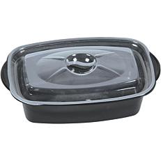 Σκεύη μαύρα με καπάκι 1200cc (50τεμ.)