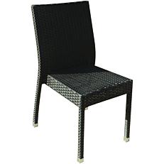 Καρέκλα MIMOSA GARDEN αλουμίνιο συνθετικό rattan στοιβαζόμενη μαύρη