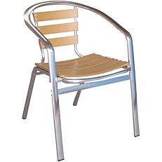 Καρέκλα RESORT LINE αλουμίνιο non wood στοιβαζόμενη καφέ