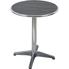 Τραπέζι MIMOSA GARDEN αλουμινίου non wood γκρι Φ60
