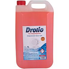 Απορρυπαντικό πιάτων DROLIO ΓΙΑ ΕΠΑΓΓΕΛΜΑΤΙΕΣ πορτοκάλι, υγρό (5lt)