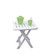 Τραπέζι πτυσσόμενο λευκό 79x72x70cm
