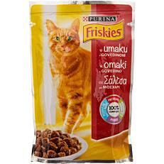 Τροφή FRISKIES γάτας με μοσχάρι σε σάλτσα (100g)