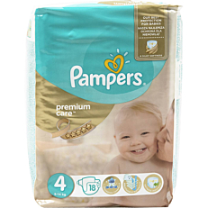 Πάνες PAMPERS Premium Care No.4, 8-14kg (18τεμ.)