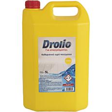 Καθαριστικό DROLIO ΓΙΑ ΕΠΑΓΓΕΛΜΑΤΙΕΣ για το πάτωμα με άρωμα λεμόνι, υγρό (5lt)