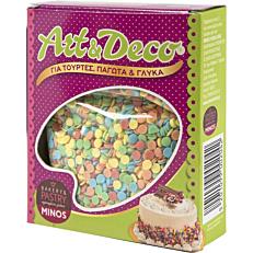 Προϊόντα ζαχαροπλαστικής MINOS confetti, art & deco (100g)