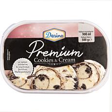 Παγωτό DESINO κρέμα μπισκότο συσκευασία 900ml (500gr)
