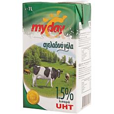 Γάλα MY DAY μακράς διαρκείας 1,5% λιπαρά (1lt)