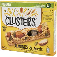 Μπάρες δημητριακών NESTLE Clusters με αμύγδαλα και σπόρους κολοκύθας (4x35g)